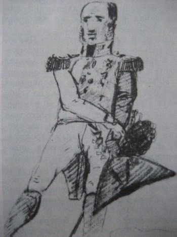 М. Б. Барклай-де-Толли. Рисунок из альбома В. И. Апраксина. 1810-е годы