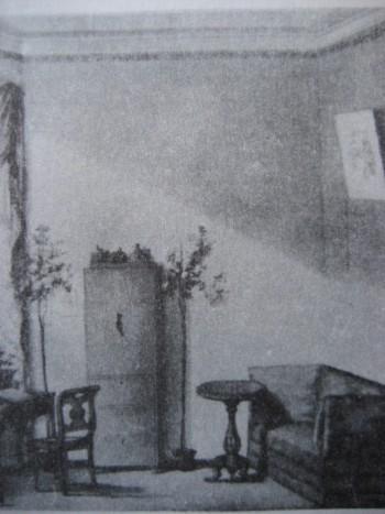 Интерьер. Акварель из альбома Трубецких. 1820-е годы