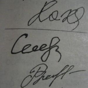 Закруглённость или угловатость подписи