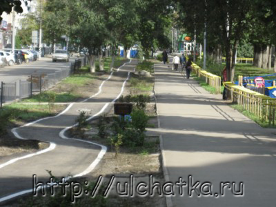 Велодорожка в Саратове