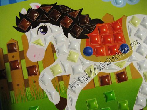 Аппликация или панно Лошадь из игрового набора