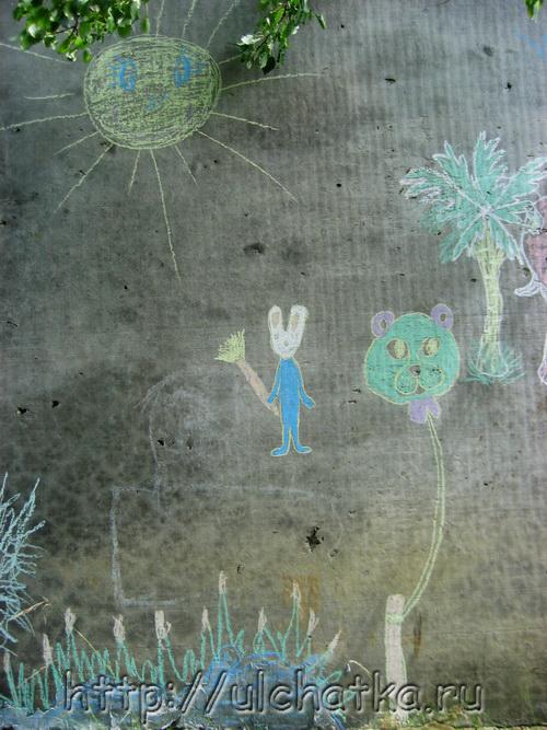 Оформление стен рисунками