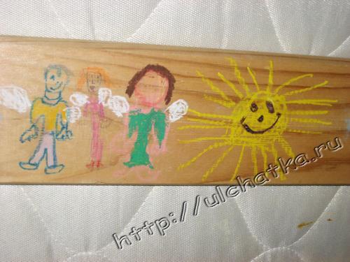 Рисование на дощечках