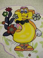 Рисованная открытка с днём рождения
