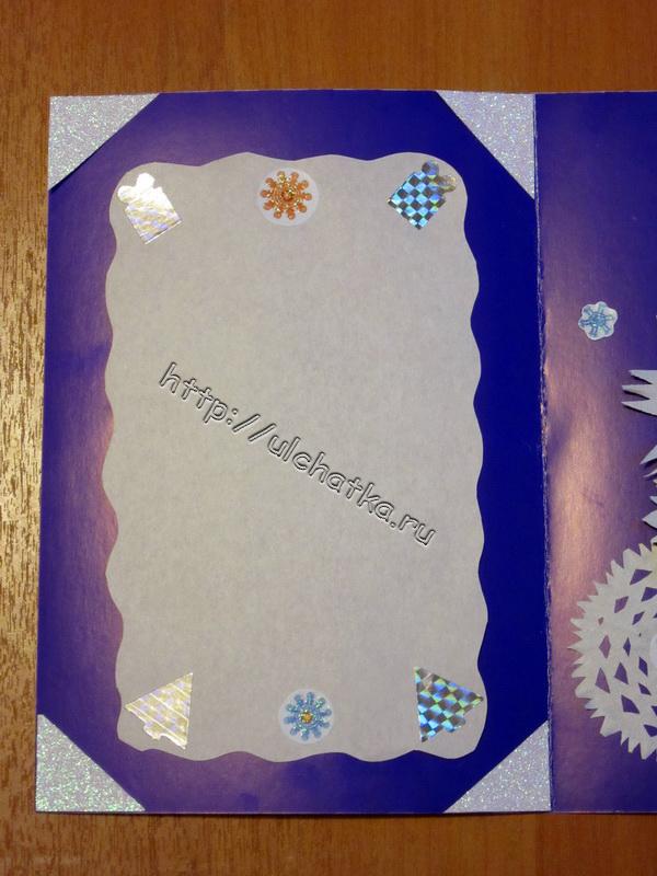 Снежинки из бумажных салфеток