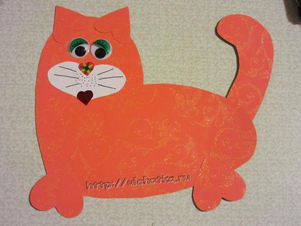 Кот из сердечек